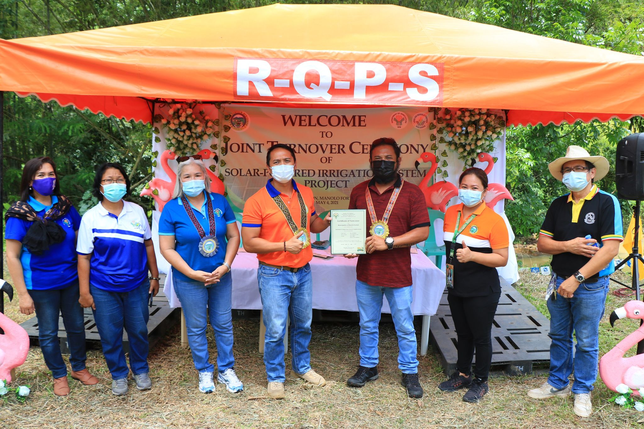 DA, LGU Manolo Fortich leads turnover of P5.2-M Solar-Powered Irrigation System to barangay Lingion